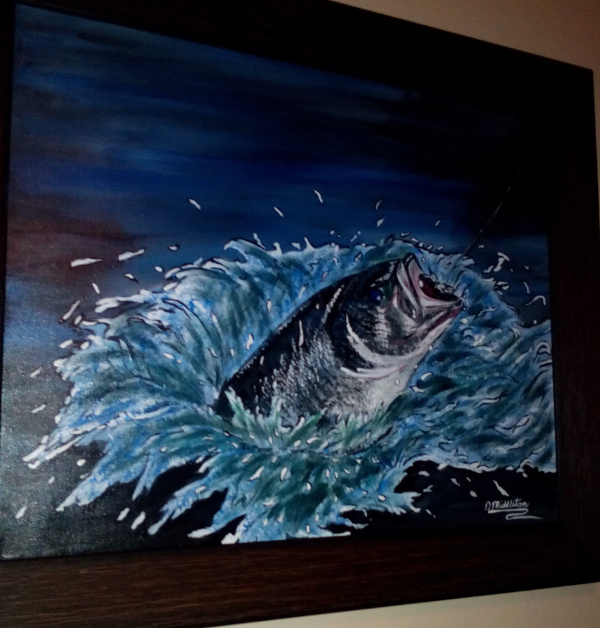 Bass paintings beyond the banks fishing stories blog for Fishing in louisville ky
